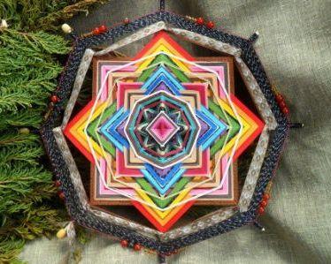 мастер класс - Плетение мандалы